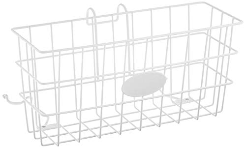 Walker Basket (Eligible for VAT Relief in the UK), Spare Universal Wire Basket Attaches to Walking Frame With Hook and Loop, Leaves Hand Free, Carry Books, Remote, Phone, Snacks