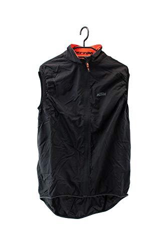 KTM Windblocker Weste Größe XL in schwarz mit Reflektordruck & Rückentasche