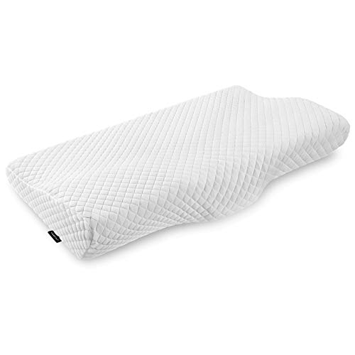 UMIOUContourCervicalMemory Foam PillowOrthopedicSleeping Pillows for Neckand Shoulder Pain Relief,ErgonomicPillowfor Side, Back and Stomach Sleeperswith Pillowcase (Soft & Queen Size)