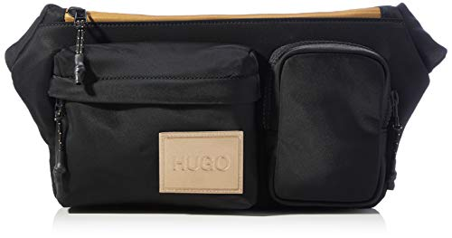 HUGO Herren Record LG_Waist bag Gürteltasche, Black1, Normal