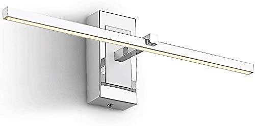 Wlnnes 8W 46cm IP44 para baño, lámpara de espejo de tocador SIET LED Mirror Luz frontal Cálido blanco 3000K, maquillaje de baño Iluminación frontal de iluminación de luz de acrílico, a prueba de salpi