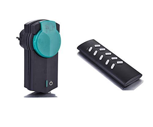 ZEYUN enchufe con mando a distancia(1 + 1) para uso en exteriores,...