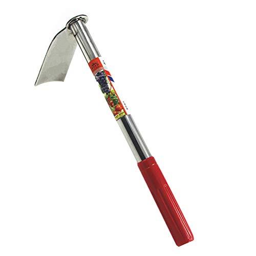 Yarnow Garden Hand Hoe Coltivator in acciaio inox con rastrello a mano e zappa da giardino, strumento per piantare, trapiantare, diserbare, spostare il terreno lisciante