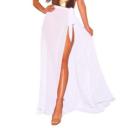 TWIFER Damen Beach Multifunktions Einfarbig Vertuschen Sarong Badeanzug Smok Kleid