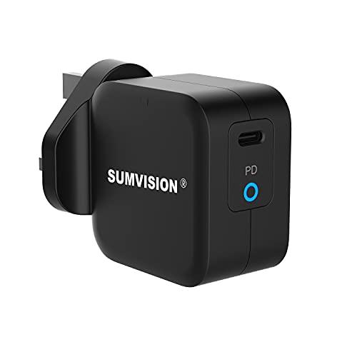 Sumvision PD 3.0 Carga rápida 3.0 25W USB C Ultra compacto Smart Power Delivery Cargador de viaje compatible 2021 Última fuente de alimentación programable PPS Carga rápida
