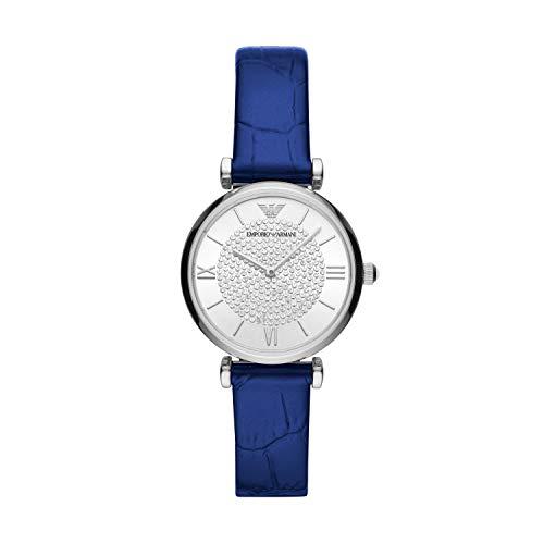 Emporio Armani Reloj Analógico para De Las Mujeres de Cuarzo con Correa en Cuero AR11344