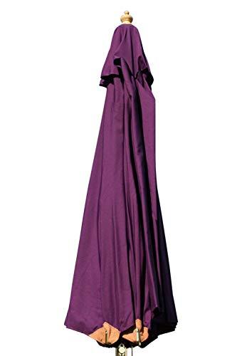 Gartensonnenschirm in Spitzenqualität aus Hartholz - 3m Spannweite - 8 Farben zur Auswahl (Violett)