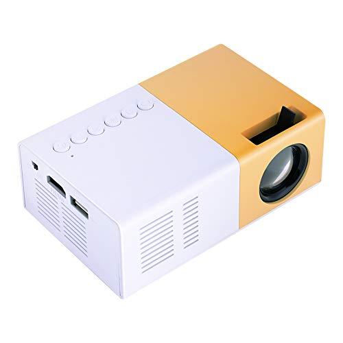Mini Beamer,Richer-R Tragbar 1500 Lumen LED Mini HD Heimkino Pocket Projektor, Mini Multimedia Beamer Videoprojektor,Unterstützung 1080P Video HDMI VGA USB AV SD,für Video Film Home Entertainment(EU)