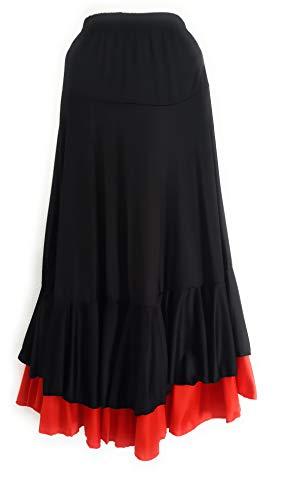 Falda de flamenco para mujer 2 volantes