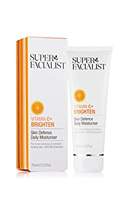 Super Facialist Vitamin C Skin Defence Daily Moisturiser Womens Light Silky Smooth Face Cream Reduces Fine Lines & Wrinkles, Restores Natural Glow 75 ml BA-SF25591