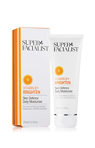 Super Facialist Vitamin C Skin Defence Daily Moisturiser 75ml. Womens Face Cream Reduces Fine Lines & Wrinkles & Restores Natural Glow. Vegan Friendly.