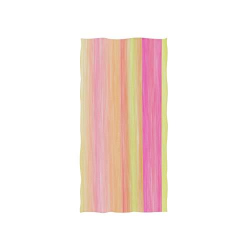 Alaza, toalla de gimnasio de microfibra, rayas de caramelo, secado rápido, para deportes, fitness, sudor, facial, 38 x 76 cm