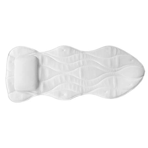 Yajun Almohada de Baño de Cuerpo Completo Cojín para Bañera PVC Reposacabezas Antideslizante para el Hogar para Adultos Súper Gruesa de Secado Rápido Almohada con Ventosa