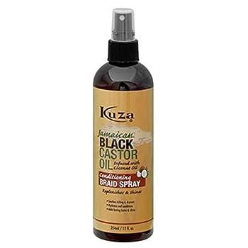 Kuza Black Castor Oil Conditioning Spray Braid Spray  12 Oz