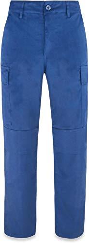 normani Damen Berufs-Arbeitsshorts 245 g/m² Farbe Blau-Lang Größe 36/S