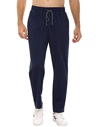 Doaraha Pantalon Jogging Homme Pantalon de Sport en Coton Grande Taille Léger Confortable ,M,Bleu
