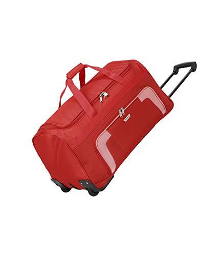 Travelite 2-Rad Trolley Reisetasche, Gepäck Serie ORLANDO: Klassische Weichgepäck Reisetasche mit Rollen im zeitlosen Design, 098481-10, 73 Liter, 2,7 kg, rot