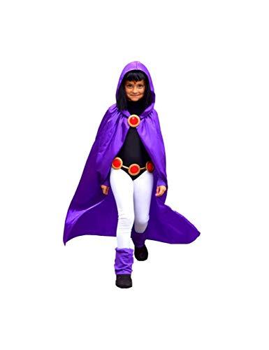 GBYAY Las niñas se Visten como un Disfraz de Teen Raven para Cosplay y Halloween 4pcs / 1set Disfraz de Fiesta de cumpleaños