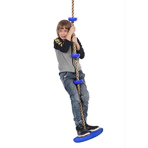 TR-yisheng Columpio de Escalada de Cuerda para niños, Columpio de árbol de Escalada de Cuerda de 2 m con Disco, Asiento de Columpio, Accesorios para Exteriores para niños, Juguetes
