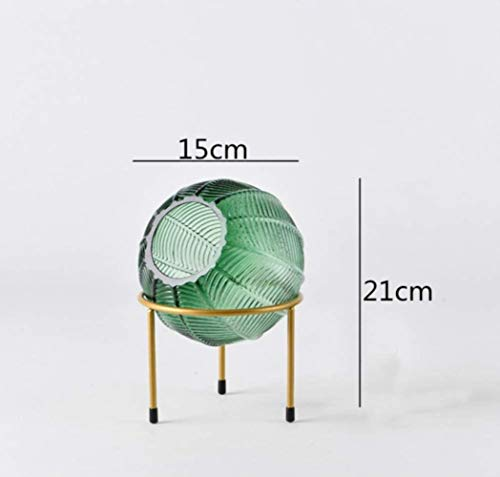 Vaas decoratie Nordic Creative glazen Ronde vaas arrangement Modern thuis desktop decoraties Bruiloft bloem vaas, grijs L, Groen L (Color : Green S)