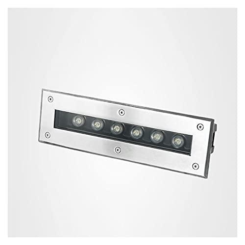ASPZQ Luce Sotterranea LED Rettangolare per Luce Pavimento Giardino All'aperto Lampada Interrata LED Scale Rondella Incasso A Parete da Giardino AC85-265V IP67 (Color : RGB, Size : AC85-265v)