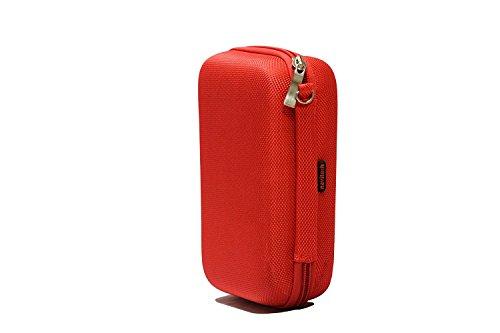 Navitech Cas Rouge Solide de Casque/Sac Compatible avec BTS Pro