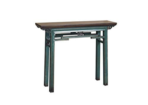 Fine Asianliving Chinesische Konsolentisch Orientalische Möbel Beistelltisch Wandtisch Dekotisch Konsole Telefontisch Tischchen Sofatisch aus Holz Kaffeetisch Couchtisch Sidetable 106 x 90 x 29cm