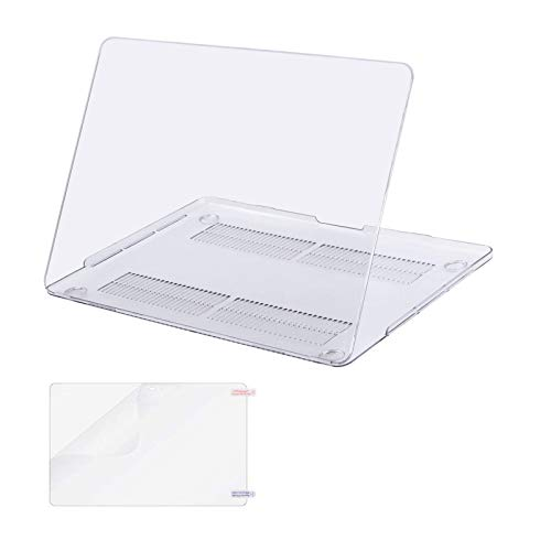 MOSISO Compatible with MacBook Pro 15 inch Case 2019 2018 2017 2016 Release A1990 A1707 with Touch Bar, Plastic Hard Shell Case Cover & Screen Protector, Crystal Clear