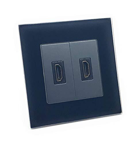 illucio Black Designer - Enchufe HDMI (hembra)