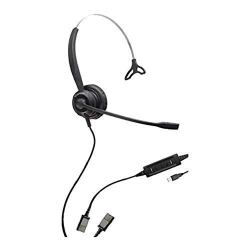 XS 820 - Auricular USB para PC, Mac y teléfonos USB   Cable de desconexión rápida incluido   Se conecta a auriculares para PC, Mac, Lync, Skype y teléfonos VoiP USB