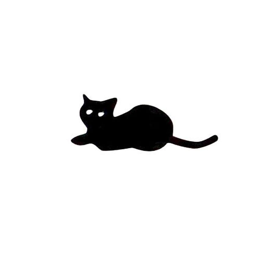 アクセルスマート実現可能リトルプリティー ネイルアートパーツ 猫5 ブラック 10個