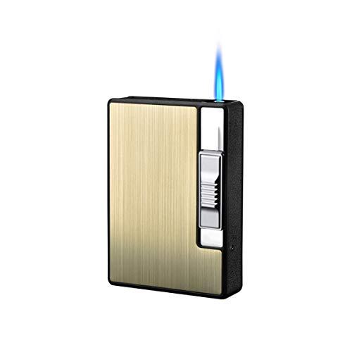 FOCUS Zigarettenetui Spender mit Butan Jet Torch Feuerzeug (Enthält 10) GOLD GOLF