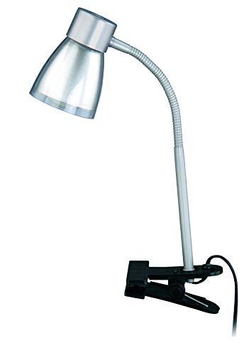 Briloner Leuchten AGL Klemmleuchte, Klemmspot, Klemmlampe, 1 x E14, 40 Watt, titanfarbig