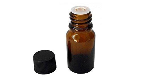 6 UNIDS 10 ML / 0.34 oz Botellas de Aceite Esencial de Vidrio con Reductor de Orificio y Negro Tapa de Rosca de Maquillaje Cosméticos Contenedores de Almacenamiento de Líquidos Jar Potes