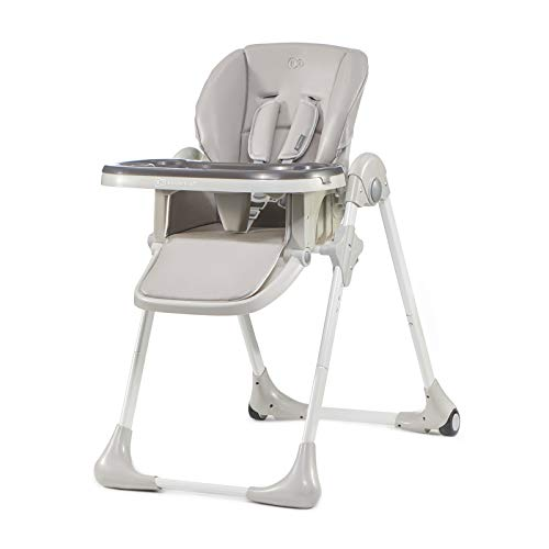 Kinderkraft Chaise Haute Enfant YUMMY, Pliable, Réglable, Nettoyage facile, Gris