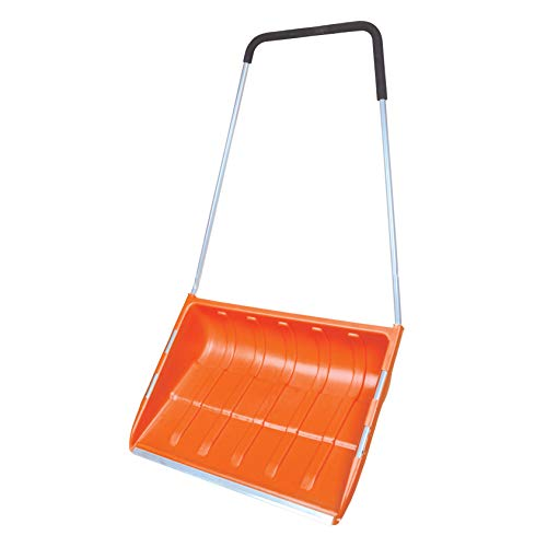Great Price! 30 Lightweight Large Snow Shovel with Metal Edge Strip Lightweight and Extension Steel...