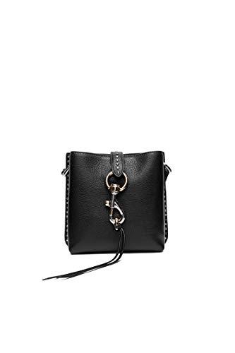 Rebecca Minkoff Women's Megan Mini Feed Bag with Studs, Black