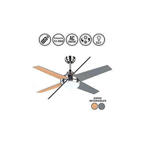 Ventilador de techo modelo EOLO con luz, control remoto, aca