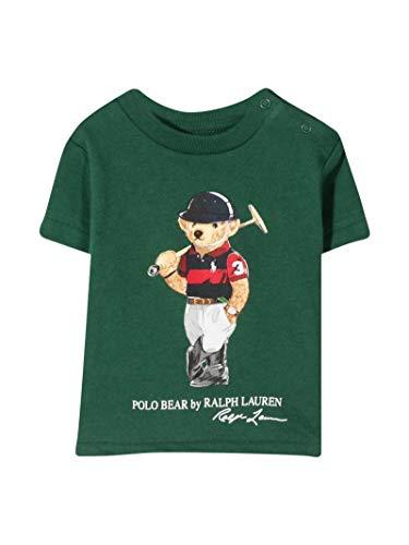 Polo Ralph Lauren - Camiseta Verde Oso 320838244002 - Camiseta Verde Oso bebé niño (24 Meses)