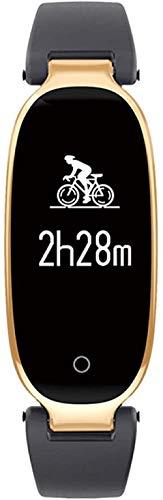 Pulsera inteligente de deportes, multifuncional, para hombre y mujer, reloj inteligente con temporizador, color negro y dorado
