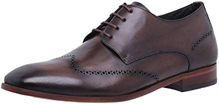 Men's Lace Up Classic Modern Formal Oxford Wingtip Genuine Leather Pro Comfort
