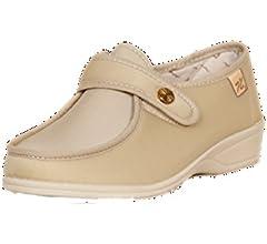 Doctor Cutillas cut746 - Zapatilla Lycra con Velcro Beige, Color Beige, Talla 35: Amazon.es: Zapatos y complementos