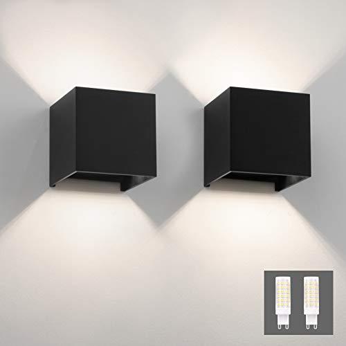 Apliques Pared Interior Negro 4000K apliques pared interior  Marca Klighten