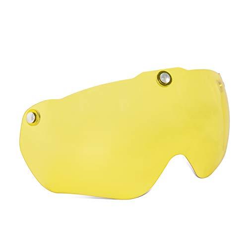 Casco de Bicicleta para Adultos, Hombres y Mujeres, Cascos Ligeros de tamaño Ajustable con luz Trasera Recargable por USB y Gafas magnéticas para Cascos de Bicicleta de montaña y Carretera (57-61cm)