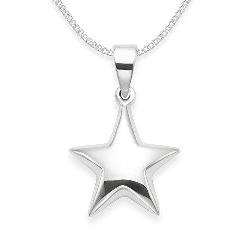 Heather Needham Sterling Silver Star Necklace on 18' chain - Star size 15mm (24mm icluding pendant top) Gift Boxed 8105/18