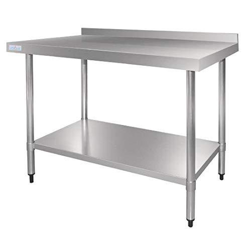 Vogue Mesa de acero inoxidable con soporte de 600 mm cocinas Comercial Catering