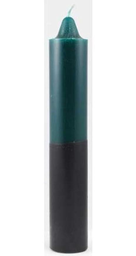 薬を飲む彼自身修道院Azure Green CP1GB 9 in. Green- Black pillar