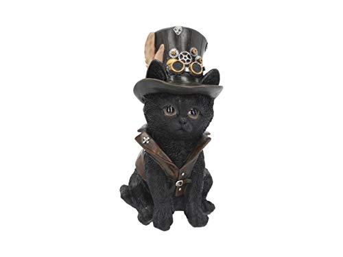 Nemesis Now Cogsmiths Cat - Figura Decorativa (18,5 cm), Color Negro