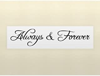 Wheeler3Designs Always & Forever Wall Art Quote Decal