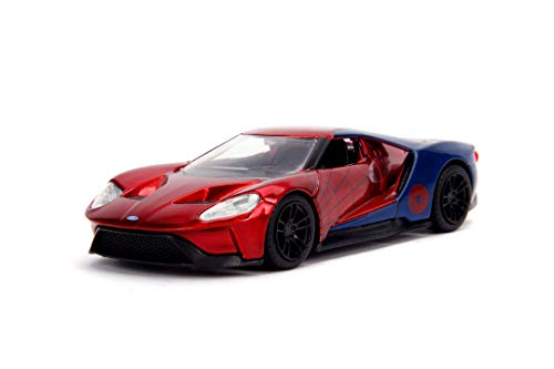 Simba Toys 7600211067 Metal Die Cast Spiderman Ford GT SPD, Rosso, Scala 1:32